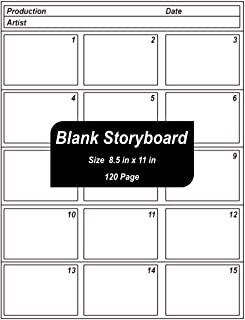 Blank Storyboard: Blank Storytelling Sketchbook,120 Pages - ( Large 8.5 x 11 inches ) - Matte cover