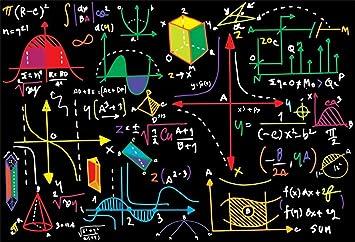 Amazon.com : AOFOTO 8x6ft Math Classroom Blackboard Backdrop Mathematics  Course Formula Geometric Figures Pattern Back to School Photography  Background Drawing Chalkboard Students Kids Portrait Photo Booth Props :  Electronics