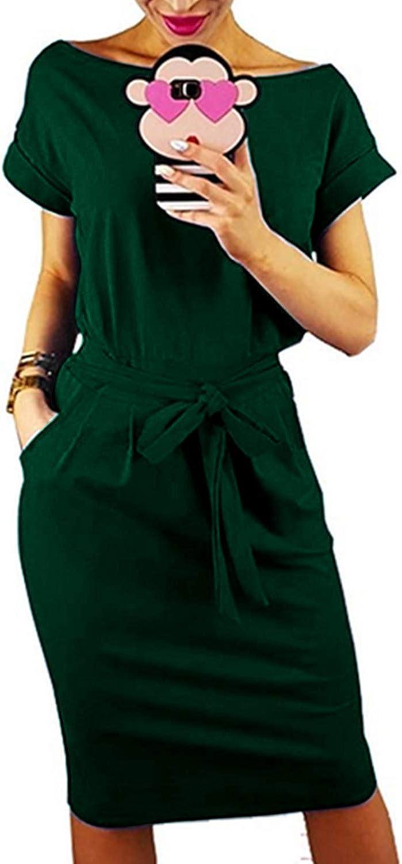 Auxo Donna Felpe con Cappuccio Manica Lunga Casuale Tinta Unita Felpe Vestito Lungo Elegante Girocollo Sciolto