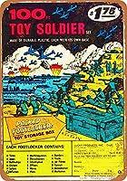 100 Toy Soldiers 注意看板メタル安全標識壁パネル注意マー表示パネル金属板のブリキ看板情報サイン