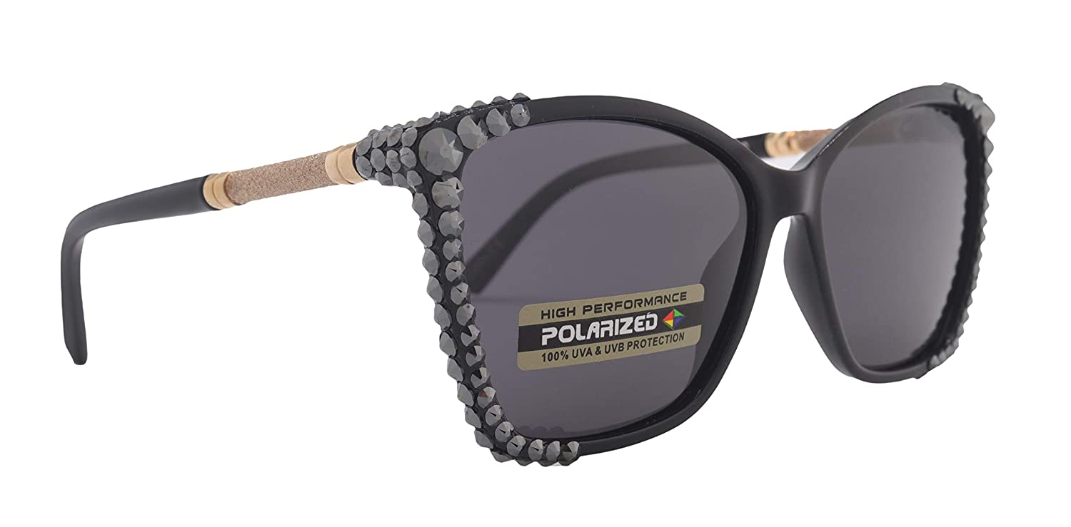 Popular shop is the lowest price challenge Bling Women Polarized Clearance SALE Limited time Sunglasses Adorned Genuine with Crystals