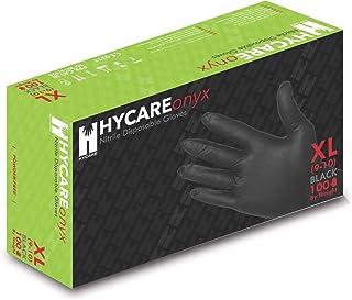 Hycare Guantes desechables de nitrilo médico sin polvo, talla XL (100 piezas)