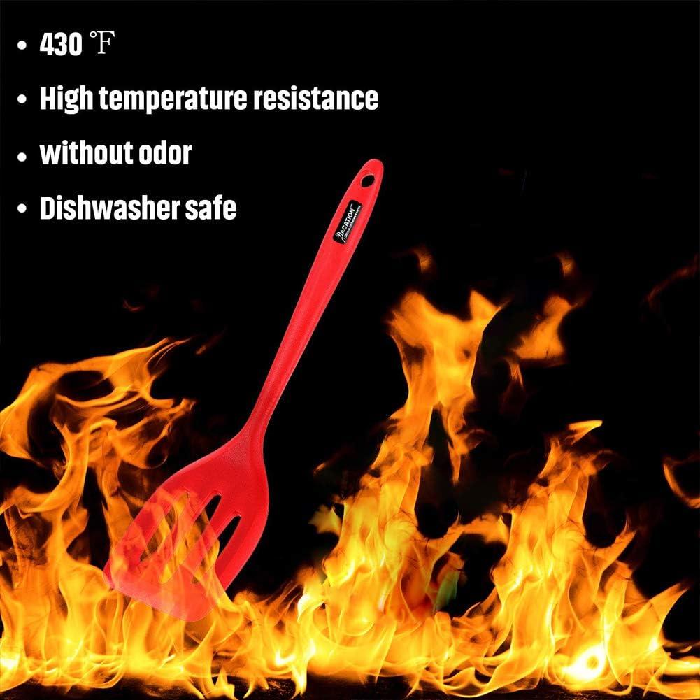 pelle /à fente Spatule en silicone de qualit/é alimentaire en caoutchouc de silicone r/ésistant /à la chaleur sans couture Ustensile de cuisine anti-adh/ésif pour la cuisson du m/élange