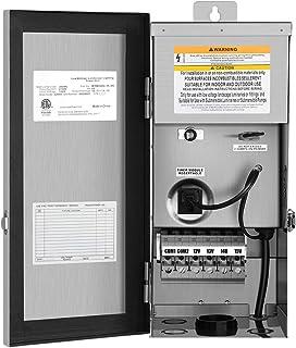 DEWENWILS 300W Multi-Tap Low Voltage Transformer, 120V AC to 12V/13V/14V/15V AC,Stainlees Steel Shield, Outdoor Transformer for Low Voltage Landscape Lighting, Spotlight, Pathway Light, ETL Listed