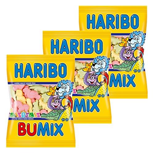Haribo Bumix, 3er Pack, Gummibärchen, Weingummi, Fruchtgummi, Im Beutel, Tüte, 200 g