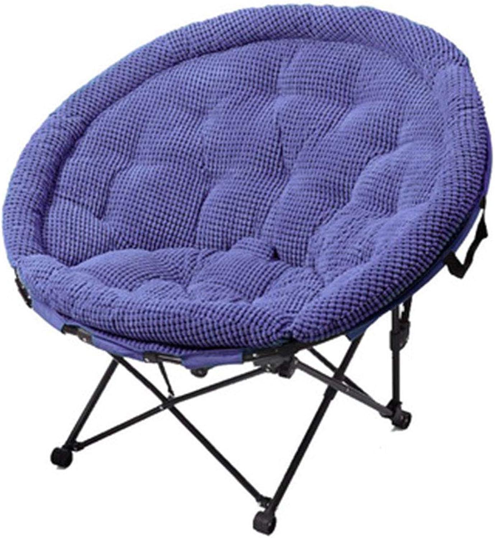 HUIFA Mittagspause Klappstuhl Zurück Stuhl Mond Stuhl Sonnenliege Freizeit Faul Couch Stuhl (Farbe   Blau, gre   S)