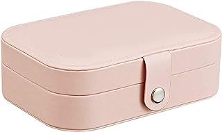 Boîte à Bijoux en Cuir boîte à Bijoux Affichage âge Cas Bijoux âge boîte Accessoires Vintage boîte Cas Haute capacité/Blan...
