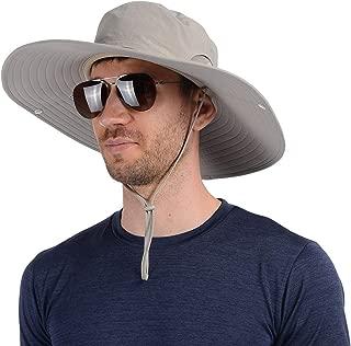 UShake Super Wide Brim Fishing Hat Bucket Hat, Safari Hat UPF 50+ Sun Protection Hat Boonie Hat Cap for Men or Women Outdoor Fishing Hunting Gardening Hiking Camping Farming
