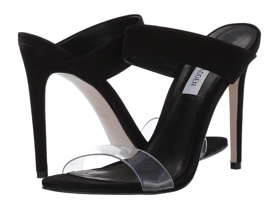 Steve Madden Amaya Heeled Sandal (Black Nubuck) High Heels