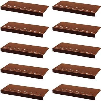 Gosear 13 Piezas Alfombras de Escalera Tela Cepillada 55.5 x 22.5 x 4cm Marrón: Amazon.es: Hogar