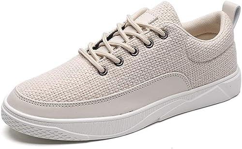 FuWeißncore 2018 Herrenmode Turnschuhe Lace Up Solid Farbe Flache Ferse Splice Vamp Schuhe (Farbe   Cream-Colourot, Größe   42 EU) (Farbe   Cream-Colourot, Größe   44 EU)
