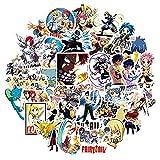 CHUDU Pegatinas de Graffiti de Dibujos Animados de Anime japonés para Marco de Barra de Tiro, Juguetes para niños, Mochilas de Coches, Ordenadores, 50 unids/Set