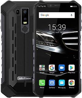 Ulefone Armor 6 シムフリー スマホ本体 防水 IP68 / IP69K 防塵 耐衝撃Android 8.15000mAh 6.2インチアスマホ 6GB +128GB 256GB sdカッド4GLTEグローバル支援 21MP+13MPデュアルカメラ デュアルsim(nano) QI対応 指紋認証 顔認証 一年保証 (ブラック)