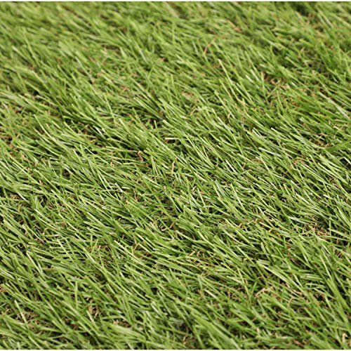 Oypla 30mm Artificial Grass Mat 6ft x 3ft Greengrocers Fake Turf Astro Law