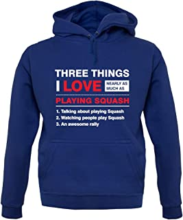 Three Things I Love Nearly As Much As Squash - Unisex Hoodie/Hooded Top