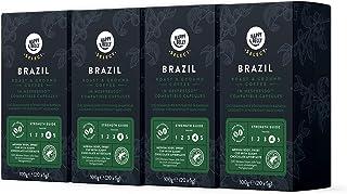 Marca Amazon - Happy Belly Select Café Molido Origin Nespresso - Brazil - 80 Cápsulas (4 Paquetes x 20)