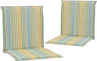 vidaXL 2X Cojines para Sillas Jardín Casa Hogar Sillones Asientos Salón Comedor Terraza Decoración Muebles Mobiliario Multicolor 100x50x3 cm