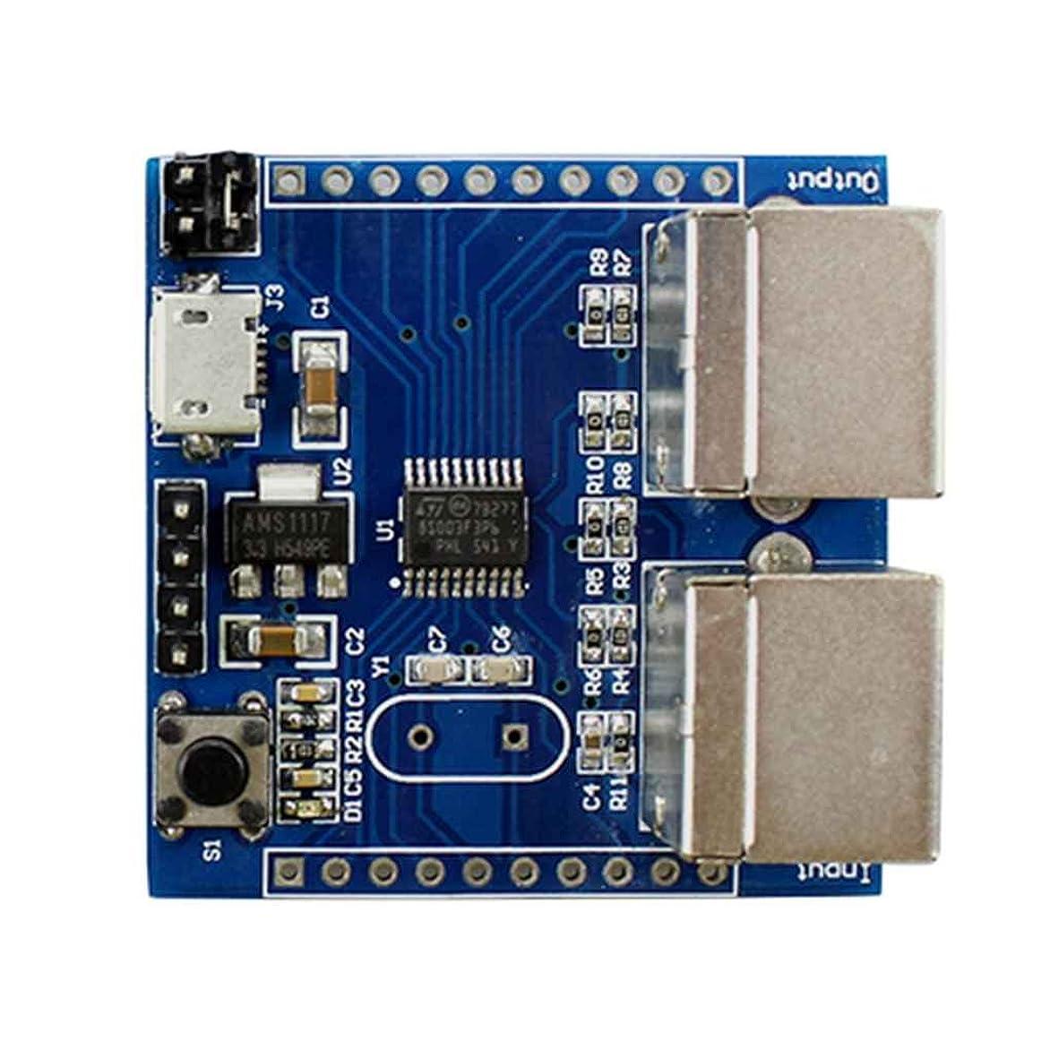 落とし穴まさにハウジングjigrui PS2キーボードドライバモジュール キーボードキャプチャーアダプターボード STM8S103F3P6 コアモジュール LEDインジケーター