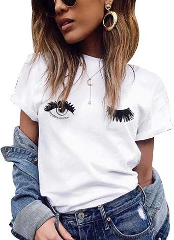 Camiseta Mujer Estampadas Camisetas Manga Corta Mujeres ...