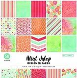 Colorbok 73490A Designer Paper Pad Mint Julip, 12' x 12'