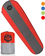 Self Inflating Camping Mat - Foam Sleeping Pad is 1.5 Inches Thick Perfect For Hiking, Backpacking, Travel, Kids & Adults - Lightweight, Waterproof & Compact Camping Air Mattress (Multiple Colors)