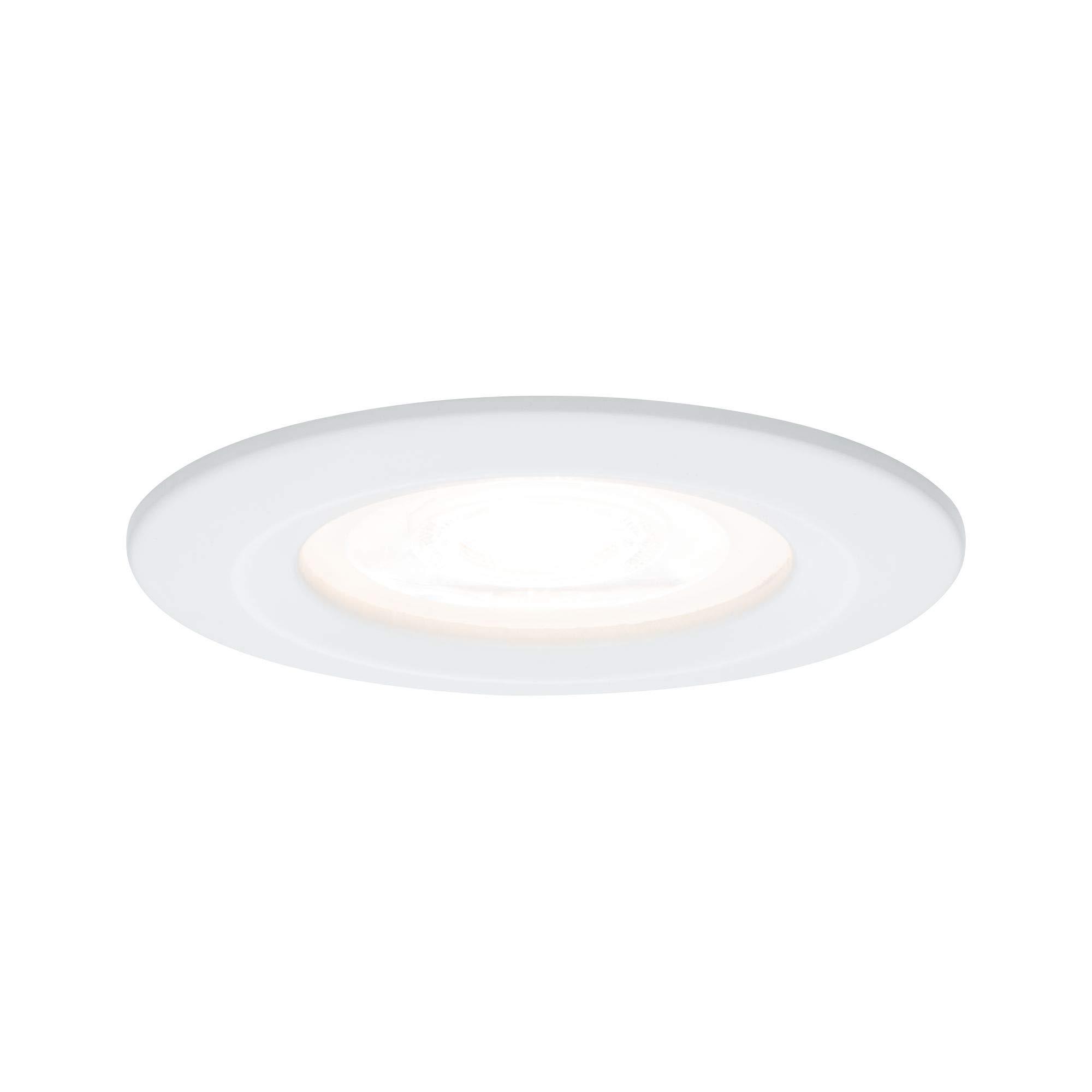 Paulmann 柏曼灯具 Paulmann 93653 LED Nova 嵌入式射灯 圆形吸顶灯 3 x 5.5 W 嵌入式灯 白色 IP44 防溅水 天花板嵌入式射灯 嵌入式灯 铝制 5.5 W 哑光