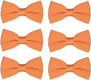 3da4c8de10f4 Men's Bow Tie Wholesale 6 Pack Wedding Ties Pre-Tied Formal Tuxedo Bowties