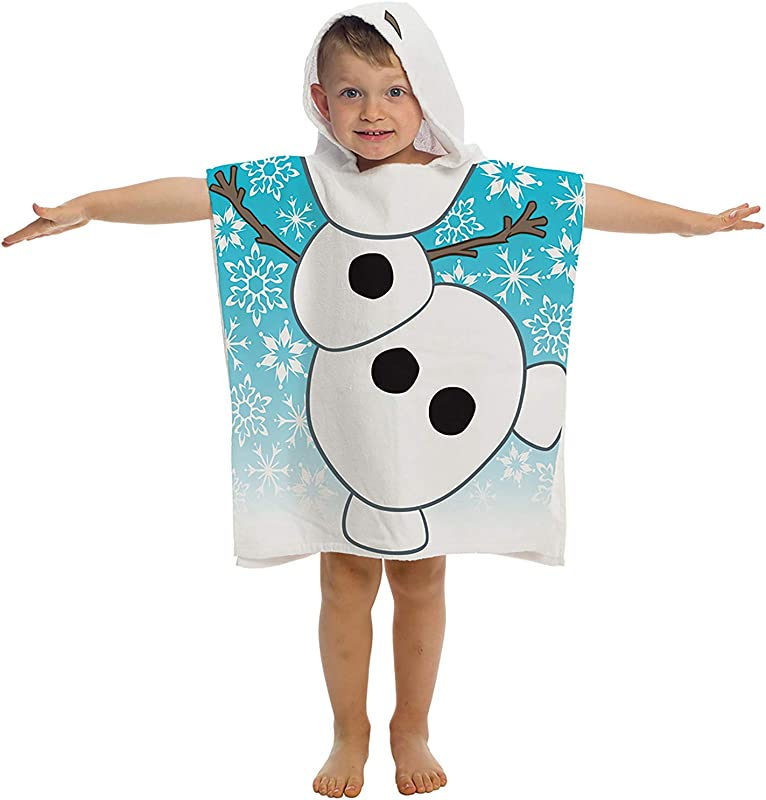 Jay Franco Embroidered Hooded Towel Frozen Olaf
