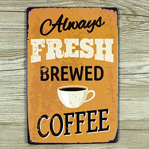 COFFEE SHOP TIN SIGN HOME SIGN VINTAGE RETRO SHOP METAL POSTER WALL DECOR WALL PLAQUE POSTER SIZE 20X30 CM FREE UK DELIVERY RPP £14.99 by Tin Signs