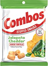 Combos Jalapeño Cheddar Tortilla Baked Snacks, 6.3 Ounce (Pack of 12)
