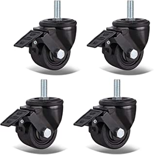 LYQQQQ Draaibare zwenkwielen Heavy Duty Meubels Caster Dubbele Dragende Industriële Wielen,Vervanging Nylon Wielen Voor We...