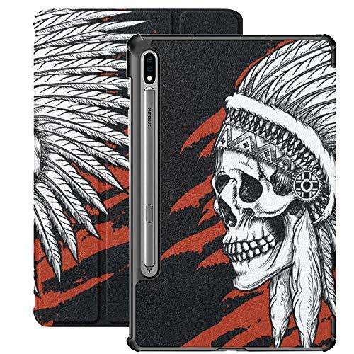 Funda para Samsung Galaxy Tab S7/S7 Plus Samsung Tab E, diseño tribal de calavera de azúcar de la India para Samsung Galaxy Tab S7 11 pulgadas S7 Plus 12.4 pulgadas