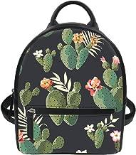 FOR U DESIGNS 3D Floral Pattern Women Pu Backpack Mini Girls Purse