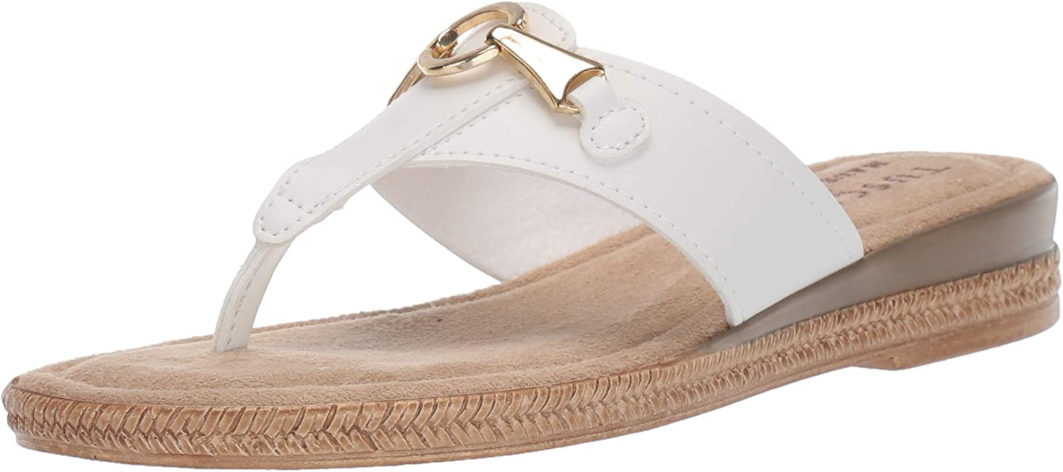 Be super welcome Tuscany by Gorgeous Easy Street Women's Wedge Farah Sandal Thong
