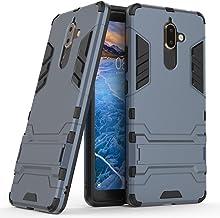 Nokia 7 Plus Case, MAIKEZI Dual Layer Armor Hard Slim Hybrid Kickstand Phone Cover Case for Nokia 7 Plus/Nokia 7+ Navy Blue a