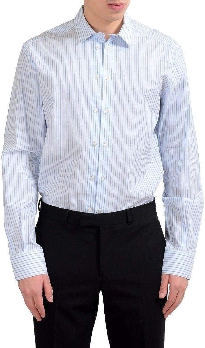 Dolce & Gabbana Men's Striped Long Sleeve Dress Shirt US 16.5 IT 42