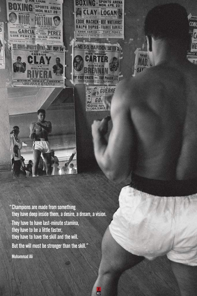 Pyramid America Muhammad Ali Gym Quote Boxing Sports Cool Wall Decor Art Print Poster 12x18