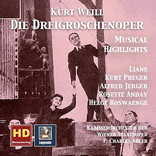 Alfred Jerger, Helge Rosvaenge, Kurt Preger, Liane Augustin, Rosette Anday, Vienna State Opera Chamber Orchestra feat. F. Charles Adler