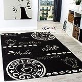 Paco Home In- & Outdoor Teppich Modern Flachgewebe Sisal Optik Küchenteppich Schwarz Weiß, Grösse:120x170 cm