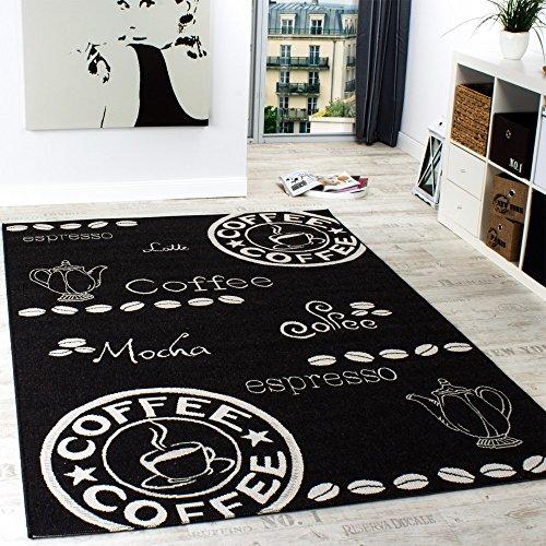 Paco Home In- & Outdoor Teppich Modern Flachgewebe Sisal Optik Küchenteppich Schwarz Weiß, Grösse:80x150 cm