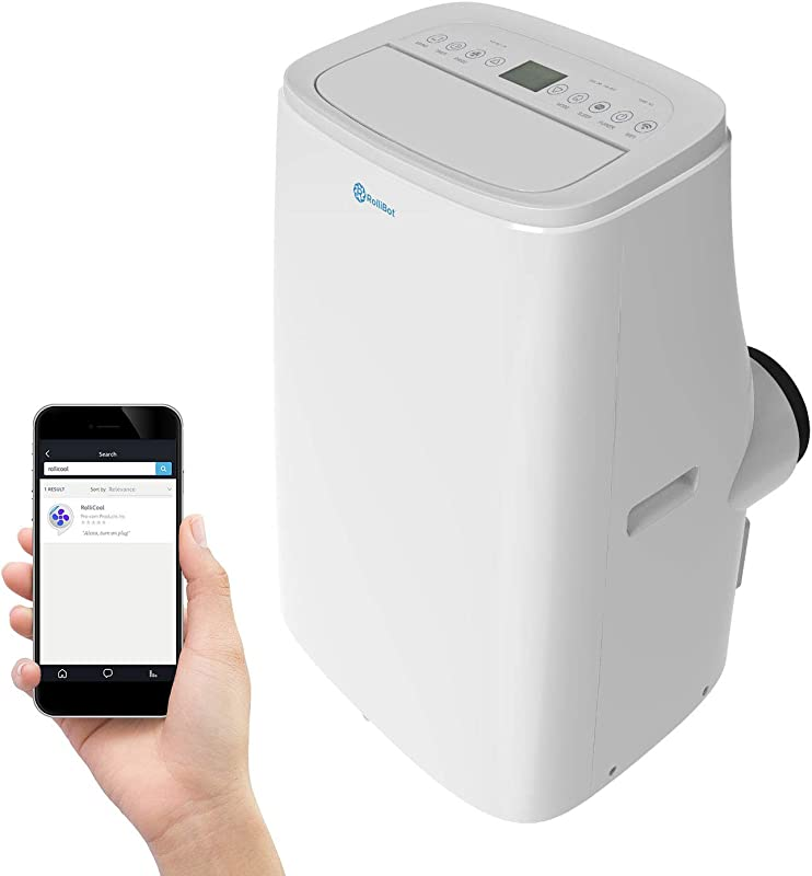 Rollicool A20 14000 BTU Portable Air Conditioner Heater Dehumidifier W Remote Works With Alexa App Enabled 700 Sq Ft Ultra Quiet 55dB