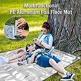 Colchoneta de Aluminio para Acampar, Manta Ligera Plegable Impermeable Impermeable para colchonetas de Picnic con Pounch, Lona de Tienda multifunción para Senderismo al Aire Libre (L / 70.87x78.74in)