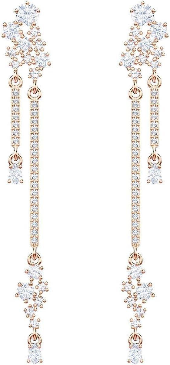 Swarovski Moonsun Long Drop Earrings Crystal One Size