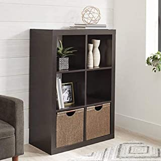 Better Homes and Gardens.. Bookshelf Square Storage Cabinet 4-Cube Organizer (Weathered) (White, 4-Cube) (Espresso, 6-Cube)