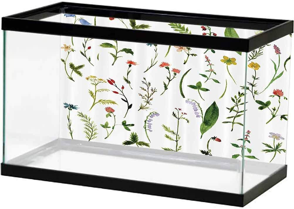 Watercolor Flower Decor Aquarium Directly managed Excellence store Wallpaper of Set Dif Background