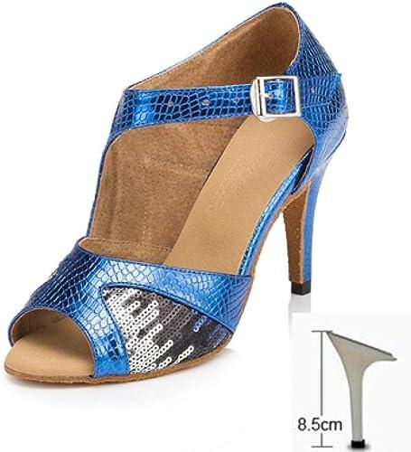 Frau Ballsaal Latin Dance Schuhe Weißliche Salsa Sandalen Party Hochzeit Samba Tango Tanzschuhe High Heels 6 7,5 8,5 cm 1767