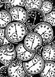 tiandushangdian Pintura Animal Abstracta León Reloj Cocodrilo Cámara En Blanco Y Negro Arte Sala De Estar Arte Póster Lienzo Pintura Sin Marco G1874 (50X70Cm)