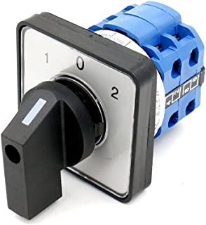 Baomain Rotary Universal Changeover Switch Szw26-20/D202.2 660V 20A 1-0-2 3 Positions 8 Terminals Latching Function