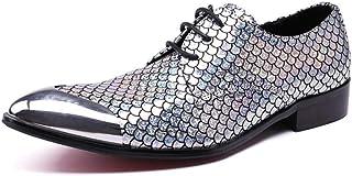 DEAR-JY Chaussures d'uniformes habillées Homme,Chaussures en Cuir Pointues,Chaussures de Travail Formelles en Cuir véritab...
