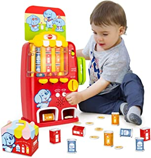 VATOS Interactive Vending Machine Toy - Pretend Play for Toddlers Age 3 4 5 Years Old Kids Drink Machine Games Light & Sou...